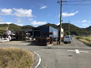 廃車買取り岐阜のコンテナ風景