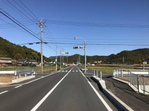 廃車 岐阜への県道からの押しボタン信号